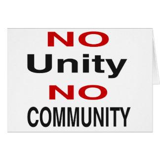 Keine Einheit keine Gemeinschaft Karte