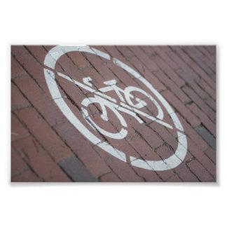 Keine Fahrräder Fotodruck