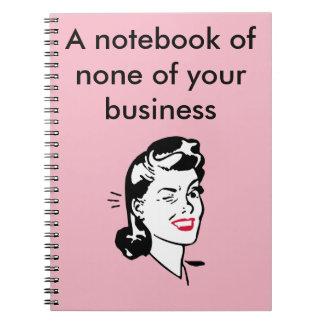 keine Ihres Geschäftsnotizbuches Spiral Notizblock