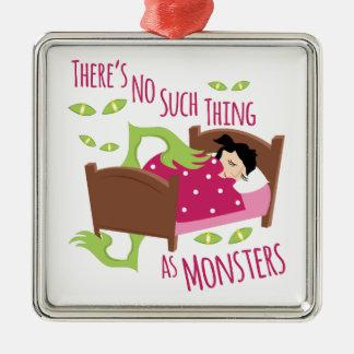 Keine Monster Silbernes Ornament