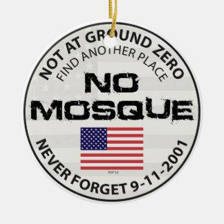 Keine Moschee am Bodennullpunkt Keramik Ornament
