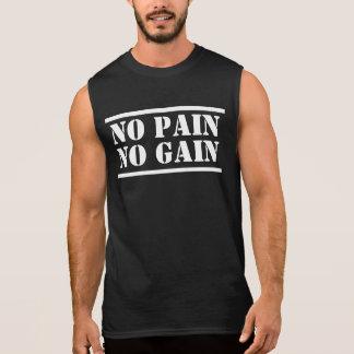 Keine Schmerz kein Gewinn-Muskel-Shirt Ärmelloses Shirt