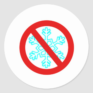 Keine Schneeflocke Runder Aufkleber