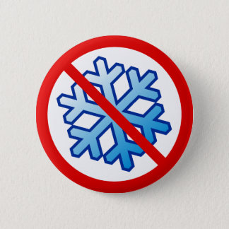 Keine Schneeflocken - Schneeflocke im Rot kein Runder Button 5,1 Cm
