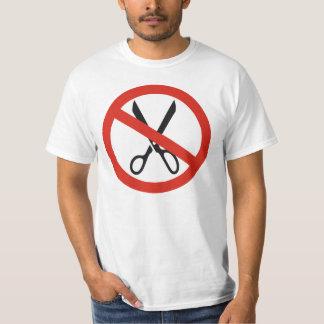 Keine Schnitt-Scheren stoppen ringsum warnendes T-Shirt