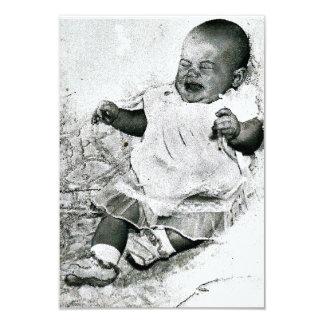"""""""keine schreiende erlaubte"""" Babyparty-Einladung Karte"""