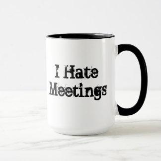 Keine Sitzungen fertigten lustige Tasse