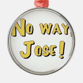 Keine Weise, Jose! Rundes Silberfarbenes Ornament