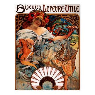 Kekse Alphonse Mucha Lefevre Utile Postkarte