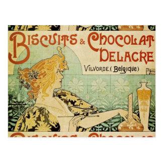 Kekse und Chocolat Delacre Postkarte
