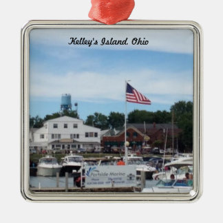 Kelleys Insel Portside Jachthafen-Ohio-Verzierung Silbernes Ornament