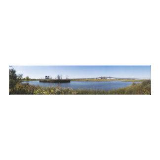 Kelly Bucht und das Pulaski Skyway panoramisch Leinwanddruck