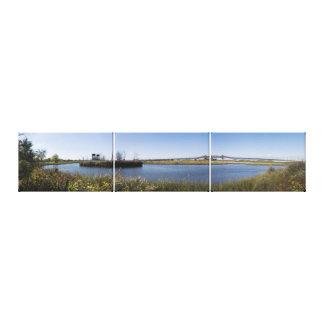 Kelly Bucht und das Pulaski Skyway Triptychon Leinwanddruck