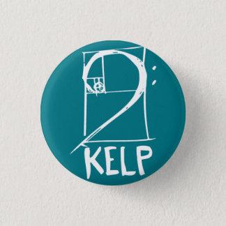 KELP-Knopf mit Bassschlüssel/gewundenem Logo Runder Button 3,2 Cm
