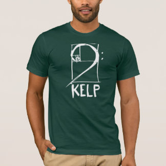 KELP-T - Shirt mit Bassschlüssel/gewundenem Logo