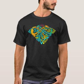 Keltische Beleuchtung - Hundeknoten T-Shirt