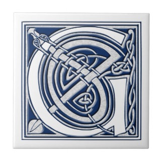 Keltische Drache-Initiale G Keramikfliese