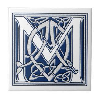 Keltische Drache-Initiale M Fliese