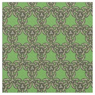 Keltische Drache-Kette im Grün Stoff