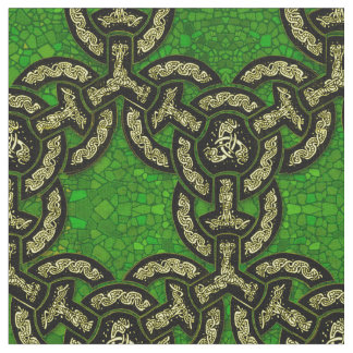 Keltische Drache-Kette in dunkelgrünem Stoff