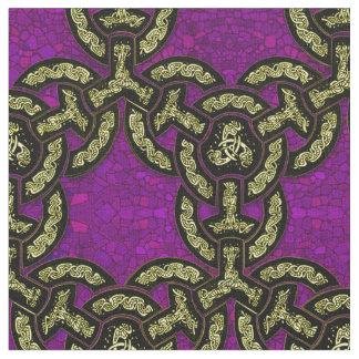 Keltische Drache-Kette in königlichem Lila Stoff