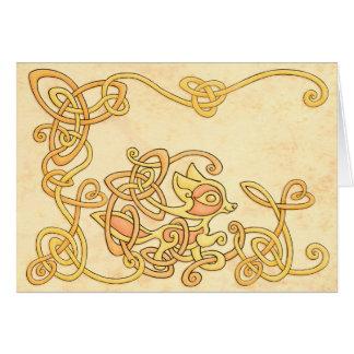 Keltische Fox-Gruß-Karte Grußkarte