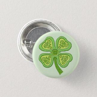 Keltische glückliche Iren Patricks des Runder Button 2,5 Cm