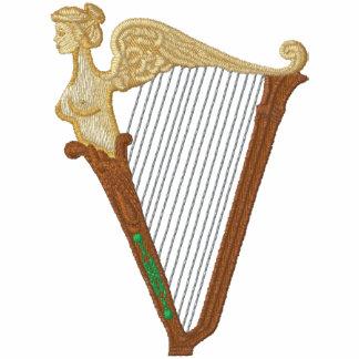 Keltische Harfe Bestickte Fleece Jogger Jacke