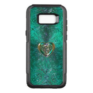 Keltische Herz-Mandala im grünen Gold OtterBox Commuter Samsung Galaxy S8+ Hülle