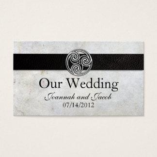 Keltische irische Knoten-Hochzeits-Website-Karte Visitenkarte