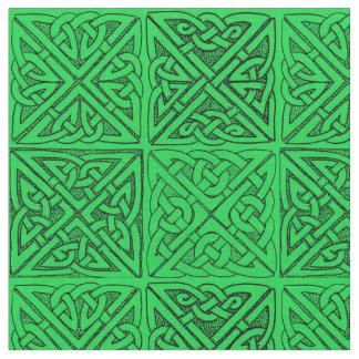 Keltische Knoten dunkelgrün Stoff