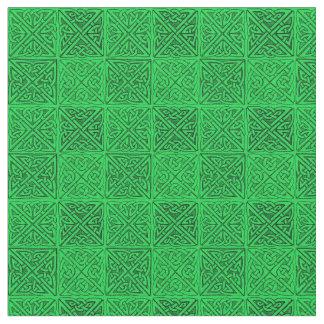 Keltische Knoten-dunkelgrüne Geldstrafe Stoff