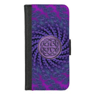 Keltische Knoten-Fraktal iPhone 6 iPhone 8/7 Geldbeutel-Hülle