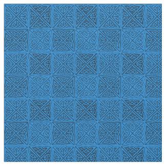 Keltische Knoten in der blauen Geldstrafe Stoff
