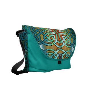 Keltische Knoten-Rickshaw-Bote-Tasche Kuriertasche