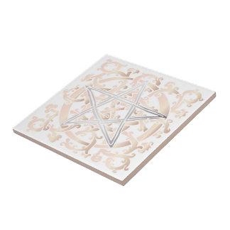 Keltische Knoten u. Pentagramm - Trivet/Fliese - 5 Kleine Quadratische Fliese