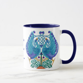 Keltische Pfau-königliche Wecker-Tasse Tasse