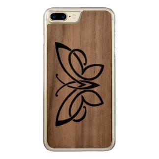 keltische Schmetterlingswalnuß dünnes iphone 6 Carved iPhone 8 Plus/7 Plus Hülle