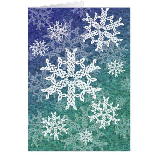 Keltische Schneeflocke-Gruß-Karte Grußkarte