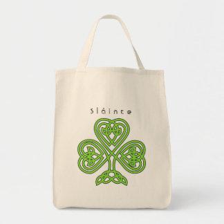 Keltischen Entwurfs-Kleeblatt-St Patrick Tag Einkaufstasche