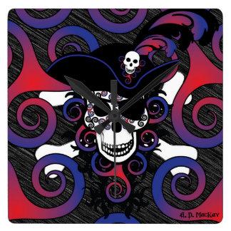Keltischer gewundener Pirat in den Blues und in Quadratische Wanduhr