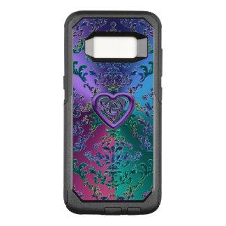Keltischer Herz-Knoten auf buntem metallischem OtterBox Commuter Samsung Galaxy S8 Hülle