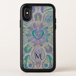 Keltischer Herz-Knoten-Mandala-Monogramm Otterbox OtterBox Symmetry iPhone X Hülle