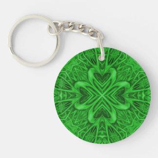Keltischer Klee AcrylKeychains, 6 Arten Beidseitiger Runder Acryl Schlüsselanhänger