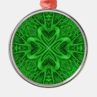Keltischer Klee-Vintage Kaleidoskop-Verzierungen Silbernes Ornament
