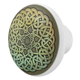 Keltischer KnüpfarbeitMandala Keramikknauf
