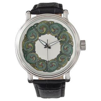 Keltischer Kranz Uhr