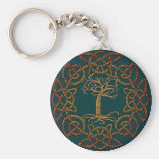 Keltischer Kreis-Baum von Leben-Iren Schlüsselanhänger