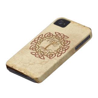 Keltischer Kreis-nordischer Baum des iPhone 4 Case-Mate Hülle