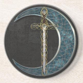 Keltischer Mond und Klinge Untersatz